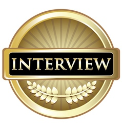 Interview gold label vector