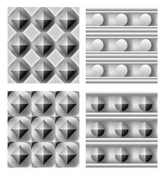 3d geometric pattern set vector image vector image