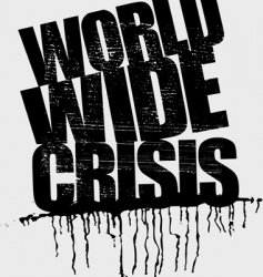 World wide crisis headline vector