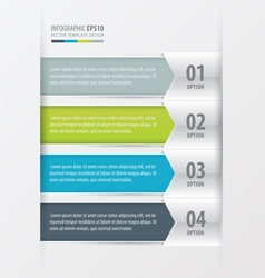 Modern infographics banner 4 color vector