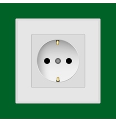 Plastic wall socket vector