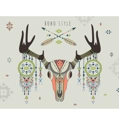 a deer skull vector image vector image