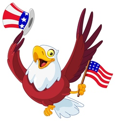 American patriotic eagle vector