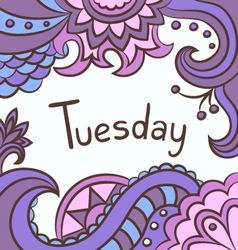 Background tuesday vector image