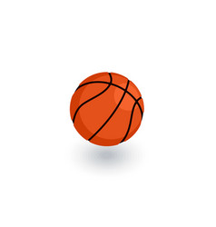 basketball ball isometric flat icon 3d vector image vector image
