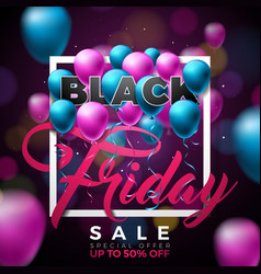 black friday sale with vector image vector image