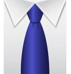 blue tie vector image