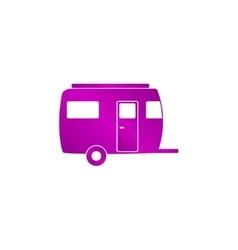 camping trailer icon vector image
