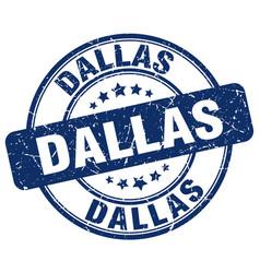 Dallas blue grunge round vintage rubber stamp vector