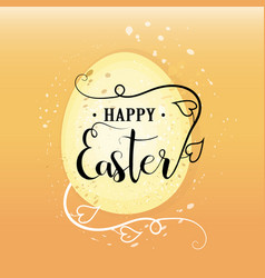 Easter happy easter calligraphy lettering for vector