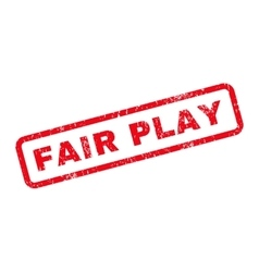 Fair play text rubber stamp vector