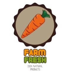Farm fresh graphic design vector image