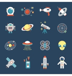 Fiction Icon Set vector image