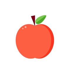 flat design red apple vector image vector image