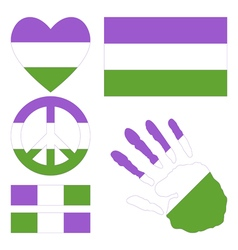 Genderqueer design elements vector