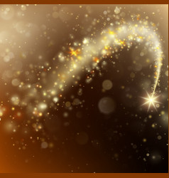 Glittering bokeh star dust template eps 10 vector