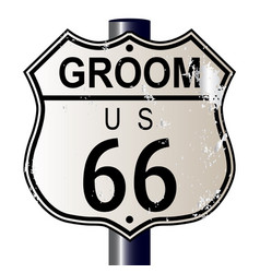 Groom route 66 sign vector