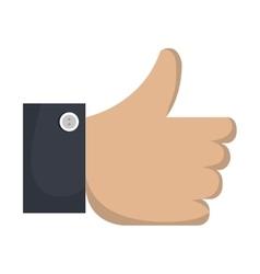 hand human like isolated icon vector image vector image