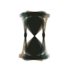 Hourglass sign colorful icon vector