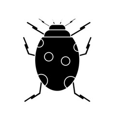 ladybug insect nature icon pictogram vector image vector image