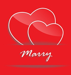 marry vector image vector image
