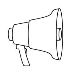 monochrome silhouette of megaphone icon vector image vector image