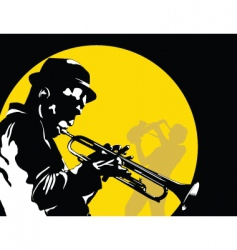moon jazz vector image