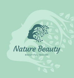nature beauty abstract sign emblem or logo vector image