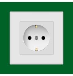 Plastic wall socket vector image