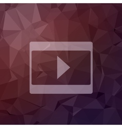 Play button in flat style icon vector