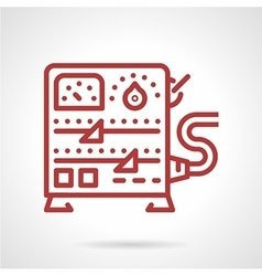 Power supply equipment line icon vector