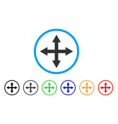 Quadro arrows rounded icon vector