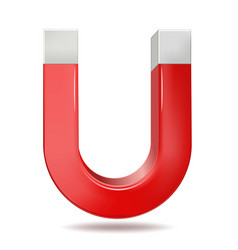 Red horseshoe magnet vector