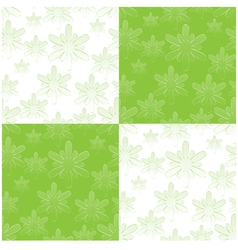 seamless floral wallpaper vector image vector image