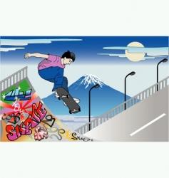 skater guy vector image vector image