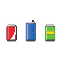 soda can set vector image vector image