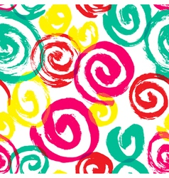 Spiral seamless pattern Hand drawn artistic ink vector image vector image