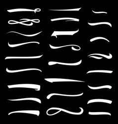 stroke hand drawn highlighter stroke set ink vector image vector image