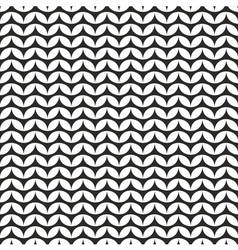Tile black and white knitting pattern background vector