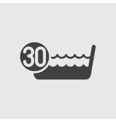 Wash below or at 30 degrees icon vector image