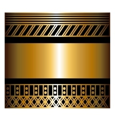 Two-color pattern with art deco frame vector