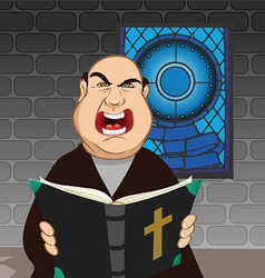 Angry priest vector