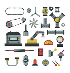 Part of machinery manufacturing work detail gear vector
