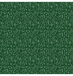 Hand drawn arrows and lines seamless pattern vector image