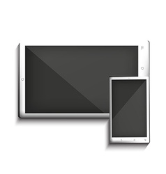 White tablet pc and mobile vector