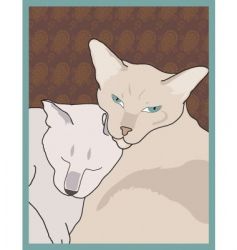 Siamese cats vector