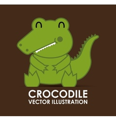 Crocodile cute vector