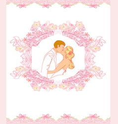 Elegant wedding invitation vector