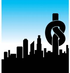 city knot vector image