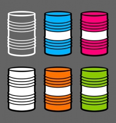 steel barrels vector image